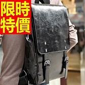 後背包-閃亮韓風高雅皮革男女雙肩包-59ab19[巴黎精品]