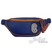 茱麗葉精品【專櫃款 全新現貨】COACH 79045 流線LOGO牛皮肩斜三用腰包.深藍