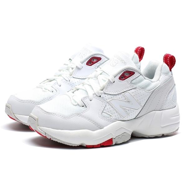 NEW BALANCE 708 正韓 白紅 皮革 小白鞋 IU  李知恩  復古 休閒 老爹鞋 女 (布魯克林) WX708EC