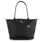 Longchamp 2605 LE PLIAGE刺繡尼龍水餃包S(黑色)480208