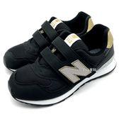 《7+1童鞋》中童 New Balance K313BKP  透氣 麂皮 復古 休閒 運動鞋 9418  黑色
