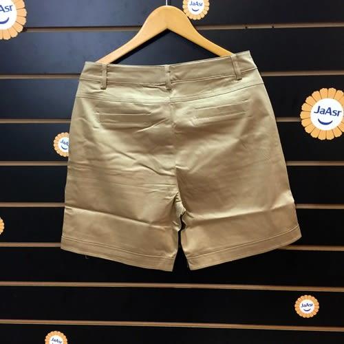 ☆棒棒糖童裝☆夏女裝中大碼素面卡其色休閒褲平織褲 XL/2L