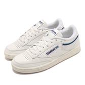 Reebok 休閒鞋 Club C 85 米白 藍 女鞋 運動鞋 皮革 【ACS】 EF3487