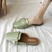 包頭半拖鞋女夏季外穿穆勒鞋百搭一腳蹬懶人鞋子糖糖女屋