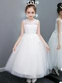 女童禮服兒童高端禮服洋氣公主裙女童婚紗走秀鋼琴演出服小主持人蓬蓬紗夏 嬡孕哺