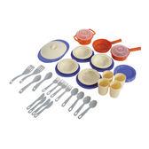 餐具模擬顏色41件套網袋 兒童教具玩具遊戲 情境扮演家家酒廚房收納整理 配件鍋碗盤杯刀叉湯匙