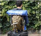雙肩地質戶外帆布男女款大容量多功能登山包ASD926『時尚玩家』