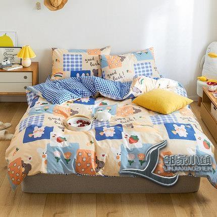 四件式純棉卡通時尚舒適床上用品【邻家小鎮】