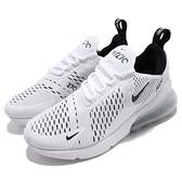 Nike 慢跑鞋 Wmns Air Max 270 白 黑 女鞋 大氣墊 大型後跟氣墊 舒適緩震 【ACS】 AH6789-100