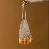 編織包 韓國網兜包街拍編織水果環保購物袋手提袋海邊度假沙灘漁網包草編包 格蘭小舖