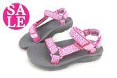 美國TEVA涼鞋 中大童 HURRICANE 2 經典織帶運動涼鞋 零碼出清 H6876#粉◆OSOME奧森鞋業