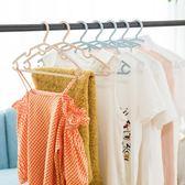 衣架家用塑料無痕兒童防滑家用防滑成人衣掛曬衣服衣架10個裝  百搭潮品