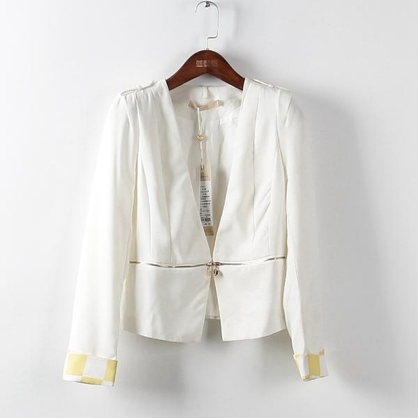 [超豐國際]璞春夏裝女裝白色時尚簡約西裝 散81772(1入)