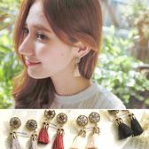 耳環 復古 鑲鑽 鏤空 流蘇 耳釘 耳環【DD160214】 icoca  04/20