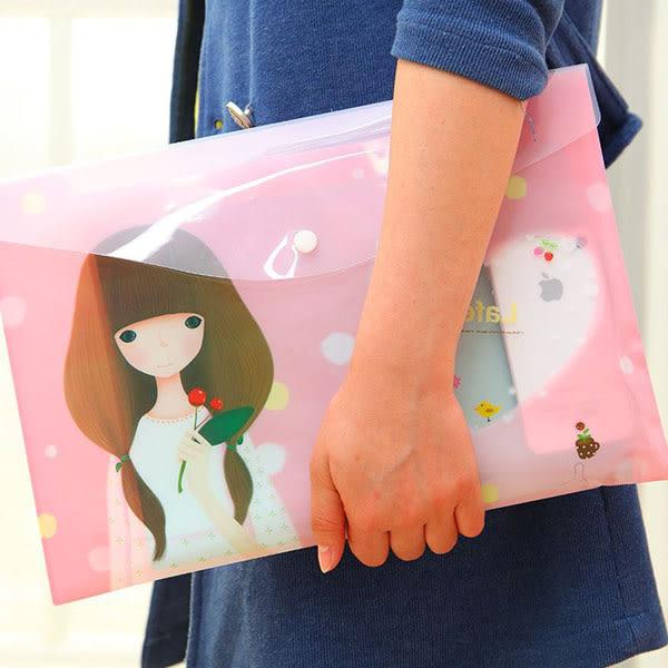 【BlueCat】長髮拉菲女孩透明A4文件袋