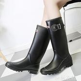 雨鞋 春秋雨鞋女高筒韓國時尚成人水靴長筒雨靴女中筒防滑防水套鞋膠鞋 薇薇