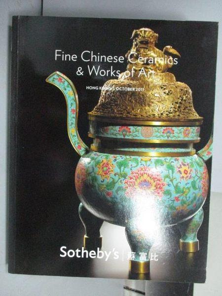 【書寶二手書T4/收藏_QOC】Sotheby s_Fine Chinese Ceramic&…2011/10/