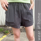 Carphanie卡芬妮 純色100%棉質大口袋顯瘦女生短褲-5色