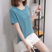L-4XL胖妹妹大碼短T~大碼女裝這款設計感上衣胖妹妹T恤短袖2F114愛尚布衣