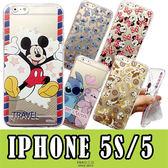 [專區兩件七折] 迪士尼 iPhone 5 5s SE 透明 手機殼 手機套 彩繪 史迪奇 米奇 米妮 卡通 保護殼