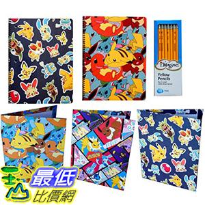 [美國直購] 神奇寶貝 精靈寶可夢周邊 Pokemon B01IDG9MYW Supplies Notebooks Folders and Pencils Set Pokemon