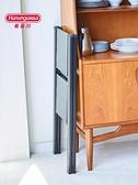 人字梯 日本長谷川Hasegawa鋁合金梯子超薄折疊家用小寬踏板花架置物凳SJ 風馳