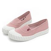 PLAYBOY 夾心餅乾 韓風帆布懶人鞋-粉(Y6709)