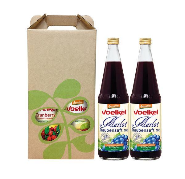 維可Voelkel有機葡萄汁原汁禮盒(700mLx2瓶)★愛家嚴選100%純天然 Demeter 能量果汁