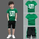 男童夏裝套裝2019新款兒童裝運動10兩件套12歲短袖衣服潮洋氣大童-Ifashion