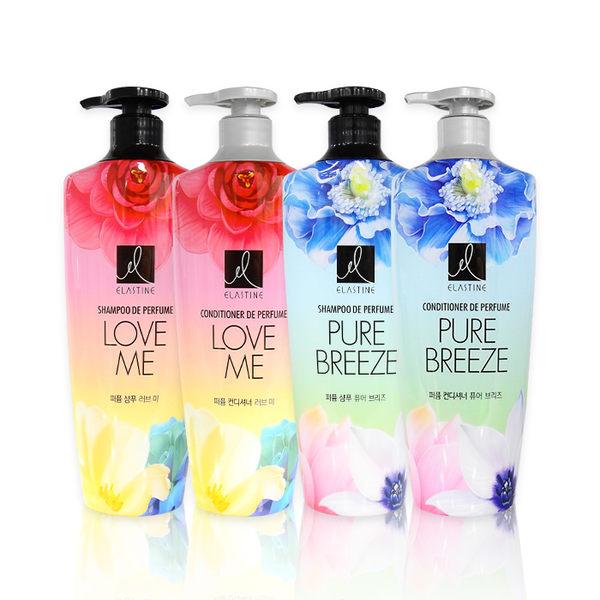 韓國 Elastine奢華香水洗髮精/潤髮乳600ml ◆ 86小舖 ◆