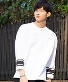 USA美國棉足球7分袖線條T恤 日本品牌【coen】