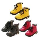 兒童短靴 韓版亮漆糖果色童鞋短版馬汀鞋 亮面皮鞋 側拉鍊童鞋 88636