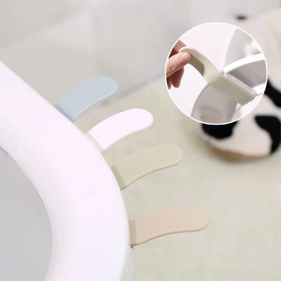 ♚MY COLOR♚簡約素色馬桶提蓋器 衛生 乾淨 手提 不髒手 浴室 翻蓋 把手 創意 居家【M124】