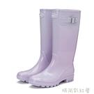 HNI時尚雨鞋女成人膠鞋高筒雨靴長筒水靴可愛水鞋防滑套鞋外穿「時尚彩紅屋」