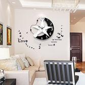 掛鐘田園創意鐘表掛鐘客廳現代簡約歐式臥室掛表藝術時鐘靜音個性裝飾【七夕情人節限時八折】