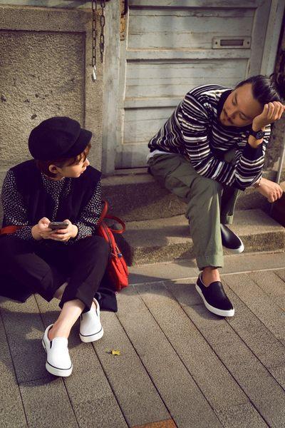 真皮休閒鞋,懶人鞋,小白鞋,台灣製造,男(雪白)