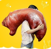 同款雞腿創意仿真食物零食抱枕公仔搞怪玩偶毛絨玩具生日禮物QM 向日葵