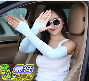 [8玉山網] 涼感袖套 防曬指套 冰絲袖套 騎行袖套 抗UV抗紫外線 韓國Let s slim 男女 開洞露指