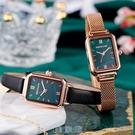 手錶女簡約氣質時尚ins風 女士名牌復古方形款女錶防水小綠錶 [現貨快出]