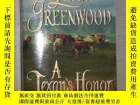 二手書博民逛書店英文原版《罕見A Texan s Honor 》Leigh G