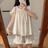 2021夏季新款夏天網紅ins風日系薄款冰絲可愛睡衣家居服套裝女夏 618促銷
