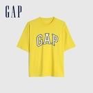 Gap男裝 Logo純棉圓領短袖T恤 688537-黃色