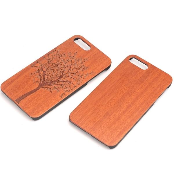 King*Shop~新款iPhone7木質手機殼蘋果7Plus木紋保護殼蘋果7木殼i7實木