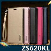 ASUS ZenFone 5Z ZS620KL Hanman保護套 皮革側翻皮套 簡易防水 帶掛繩 支架 插卡 磁扣 手機套 手機殼
