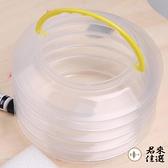 【4個裝】透明可拉伸伸縮折疊水桶繪畫洗筆桶洗顏料洗筆筒便攜水桶【君來佳選】