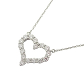 Tiffany & Co 蒂芬妮 愛心鑲鑽鉑金項鍊 Diamond Heart Pendant Necklace【BRAND OFF】