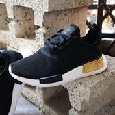 【現貨】adidas NMD_R1 BOOST底 舒適 黑金 女鞋 運動鞋 襪套式 休閒鞋 EG6702