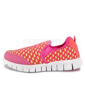 Nike Free Woven PS [629960-601] 中童鞋 慢跑 運動 休閒 舒適 透氣 粉紅 螢黃