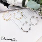 現貨不用等 韓國少女氣質甜美設計感簡約C字星星水鑽耳針 S93282 批發價 Danica 韓系飾品