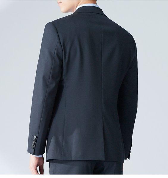 極品西服 紳士簡約品味羊毛西裝外套_黑斜紋 (AW703-3G)